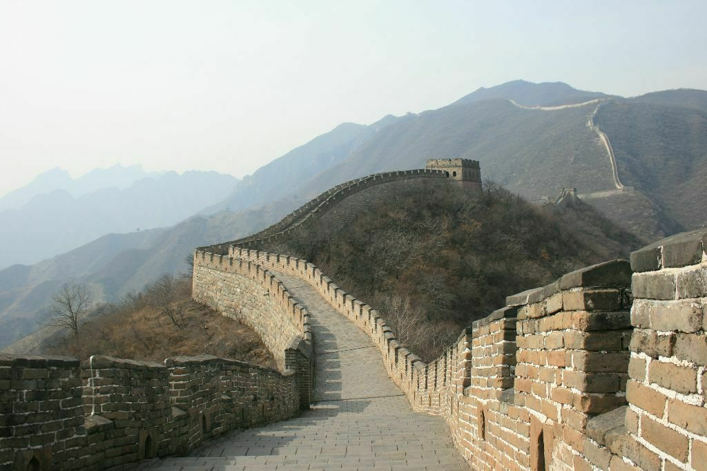 The Great Wall at Mutianyu - as seen on 1. april 2009 <br/>on my my first visit and first day in China