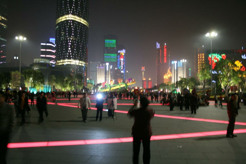 New City in Guangzhou - big city - big lights